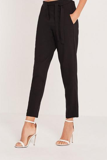 tie-belt-crepe-high-waist-pants-black